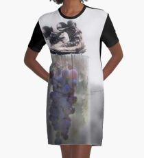Surreal Montage Print - Grapes of Wrath Graphic T-Shirt Dress