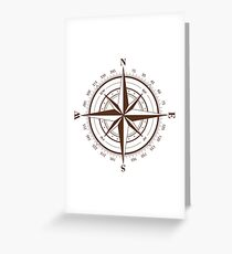 True North Compass Greeting Card