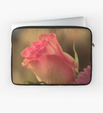 Soft Pink and White Rose, As Is Laptop Sleeve