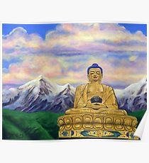 Sitting Still: Golden Buddha, Nepal Poster