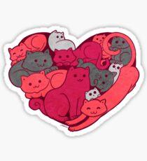 A Purrrrrfect Love Sticker