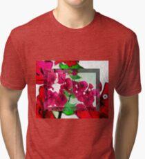 Bougainvillea Art Tri-blend T-Shirt