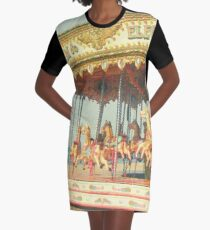 Seaside Carousel Graphic T-Shirt Dress