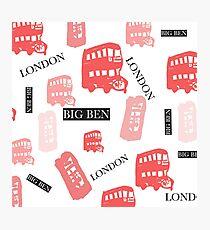 pattern with London symbols. Photographic Print