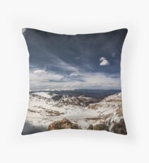 Looking around Mt Evans Throw Pillow