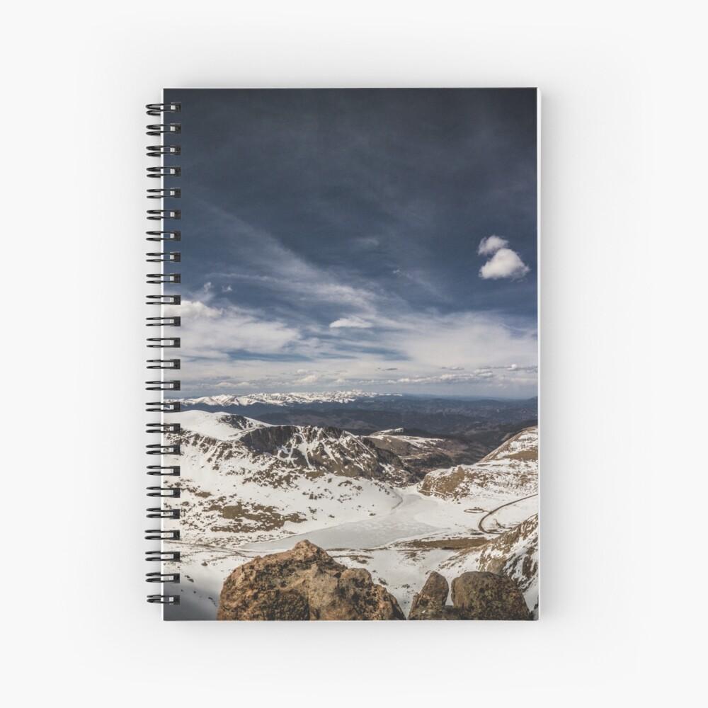 Looking around Mt Evans Spiral Notebook