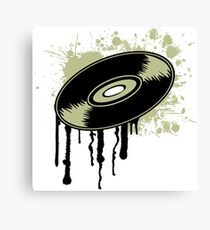 Vinyl Splatter Canvas Print