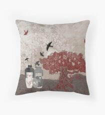 The Tourists Throw Pillow
