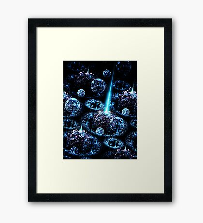 Stand Alone Complex - Abstract Fractal Artwork Framed Print