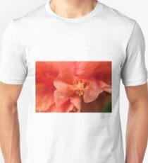 Orange Hibiscus Macro Unisex T-Shirt