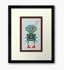 Fun Retro Robot Art Framed Print