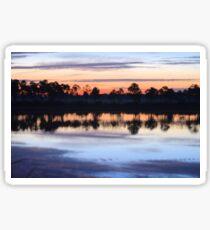 Sunrise on Webb Lake Sticker
