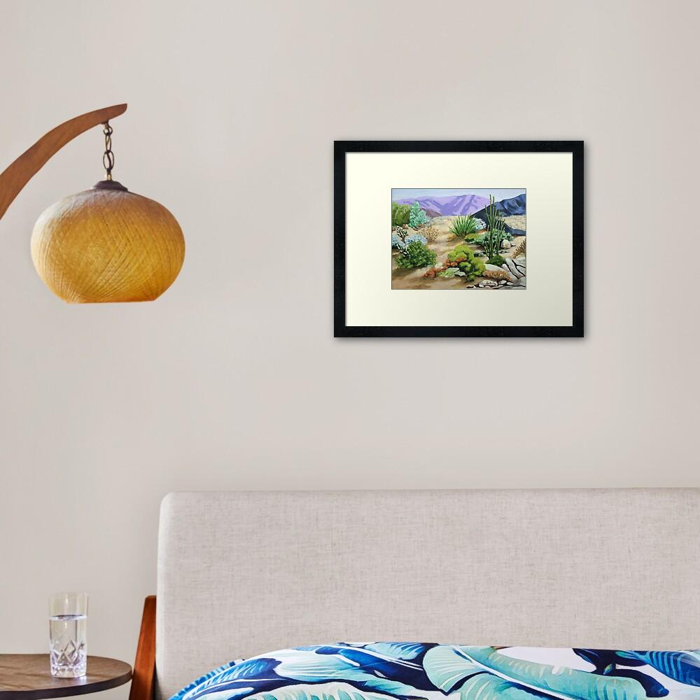 Day in the Desert Framed Art Print