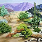 Day in the Desert by LindaAppleArt
