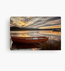 Wooden Dinghy, Franklin, Tasmania Canvas Print