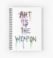 Cuaderno de espiral El arte es el arma