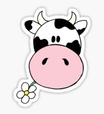 Cow munching flower Sticker