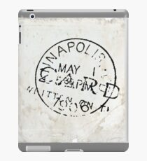 Postmark on vintage paper iPad Case/Skin