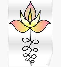 Lotus Unalome Poster