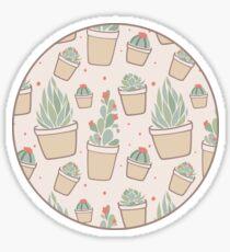 Cactus and Succulent Plants Sticker