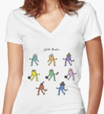 Little Dudes Women's Fitted V-Neck T-Shirt