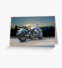 1964 Harley-Davidson FLHP Duo-Glide Greeting Card