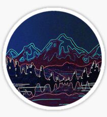 Neon Mountains Sticker
