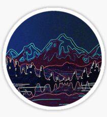 Pegatina Montañas neón