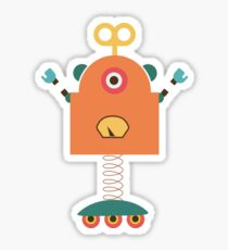 Cute Retro Robot Toy Sticker