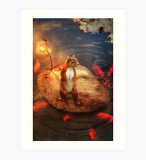 Columbus the Squirrel Art Print