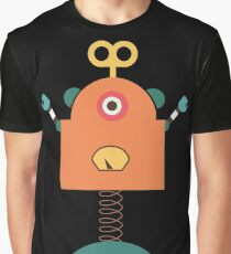 Cute Retro Robot Toy Graphic T-Shirt