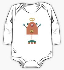Cute Retro Robot Toy One Piece - Long Sleeve