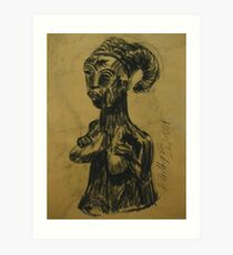 African bust #2 Art Print