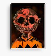 Charlie Brown goes Down Canvas Print