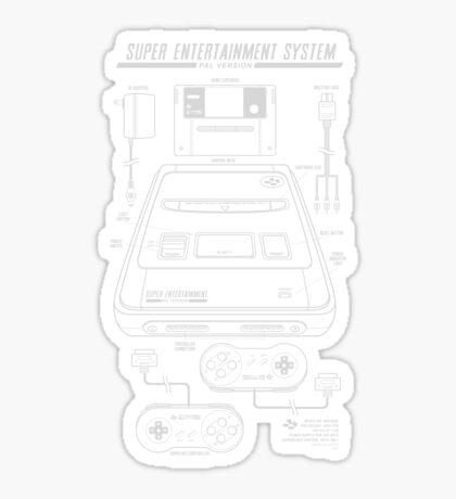 Super Entertainment System PAL Sticker