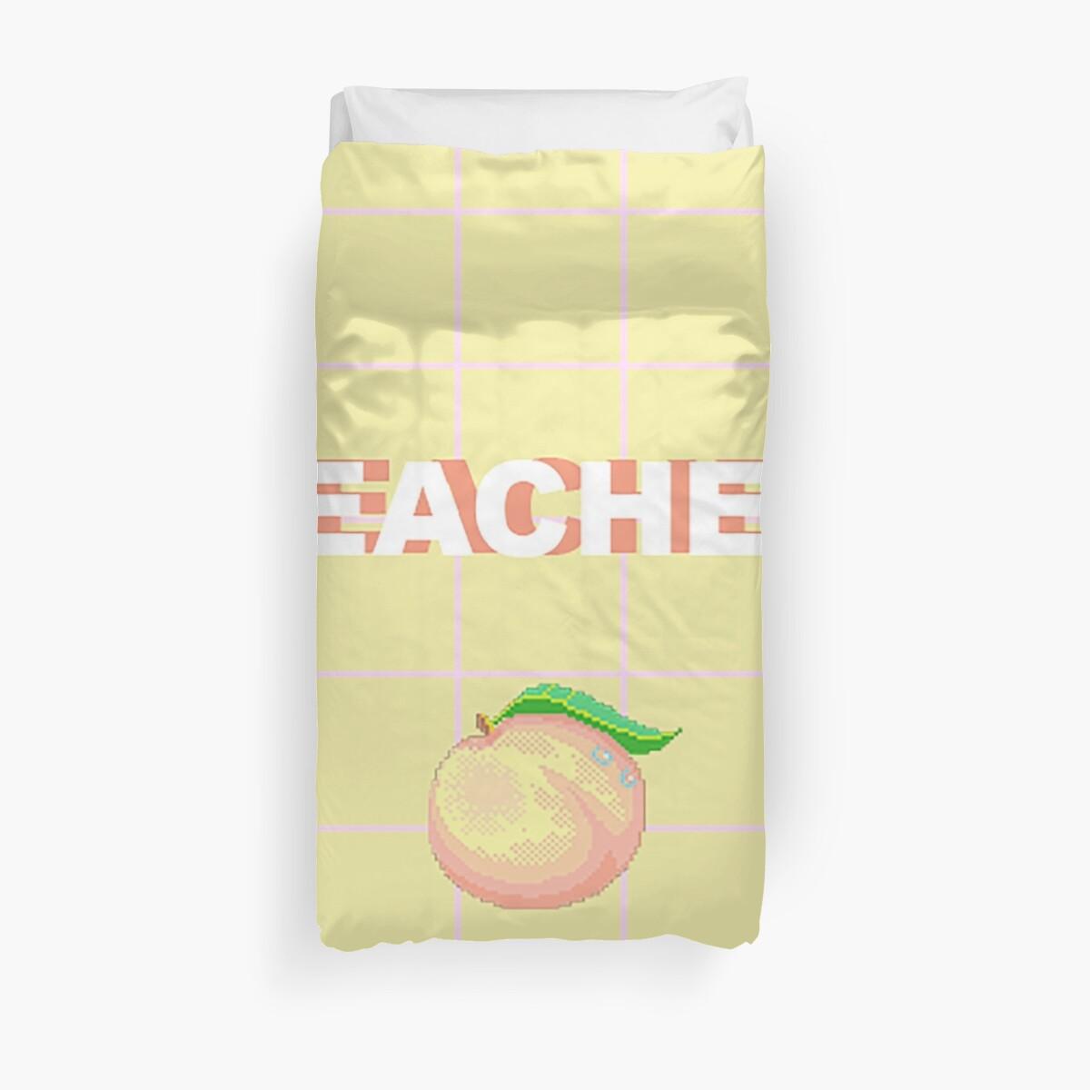 Quot Peaches Aesthetic Quot Duvet Covers By Littlekitquartz
