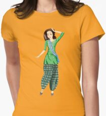 Dancing Bollywood Indian Girl Womens Fitted T-Shirt