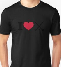 I love Field hockey clubs T-Shirt