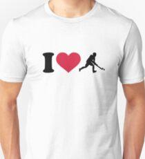 I love Field hockey player Unisex T-Shirt