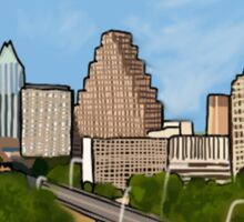 austin texas city skyline Sticker