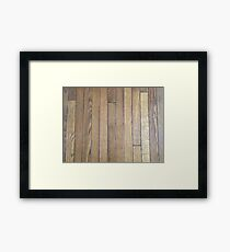 Hardwood Collection #1 - Dark Aged Wood Framed Print
