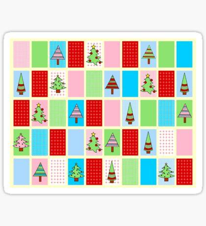 Christmas Squares Sticker
