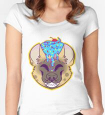 Cupcake Spotted Hyena Women's Fitted Scoop T-Shirt