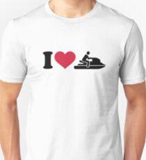 J'adore les courses de jet ski T-shirt unisexe