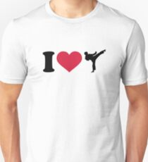 I love Karate Kickboxing Unisex T-Shirt