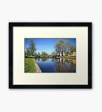 scenic river Spring Framed Print