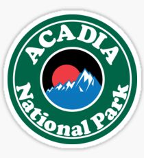 ACADIA NATIONAL PARK MAINE MOUNTAINS HIKING CAMPING HIKE CAMP  Sticker
