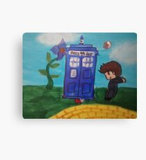 Doctor Who Wizard Of Oz Mix Canvas Print