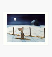 Lunar Shadows Art Print