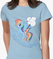 Danger is my middle name - Rainbow Dash Women's Fitted T-Shirt